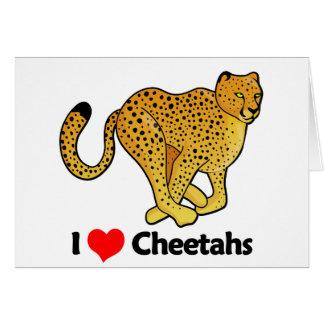 I Love Cheetahs Card