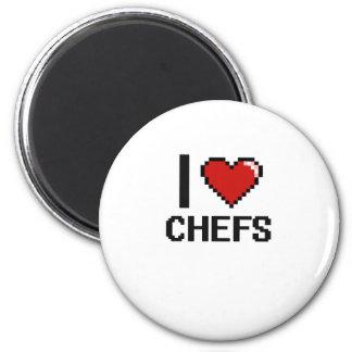 I love Chefs 2 Inch Round Magnet