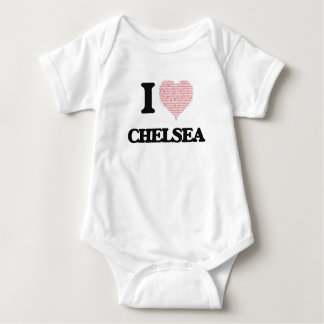 I love Chelsea (heart made from words) design T-shirt