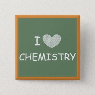 I Love Chemistry 15 Cm Square Badge