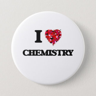 I Love Chemistry 7.5 Cm Round Badge
