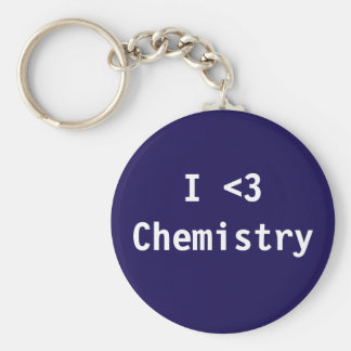 I Love Chemistry Basic Round Button Key Ring