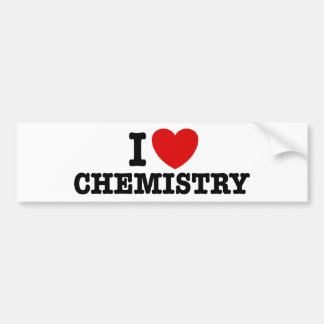 I Love Chemistry Bumper Sticker