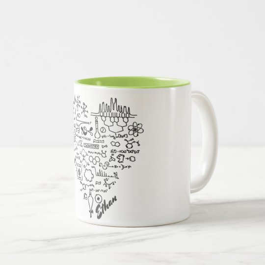 I Love Chemistry Chemist Personalised Two-Tone Coffee Mug