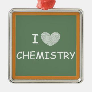 I Love Chemistry Christmas Ornament