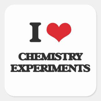 I love Chemistry Experiments Square Sticker
