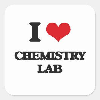 I love Chemistry Lab Square Sticker