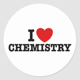 I Love Chemistry Stickers