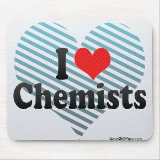 I Love Chemists Mouse Pads