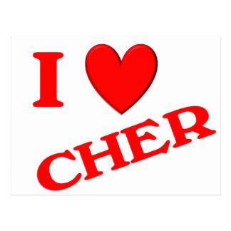 I Love Cher Postcards