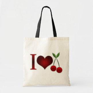 I Love Cherries Budget Tote Bag