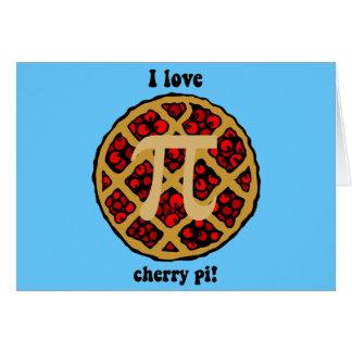 I love cherry pi greeting card