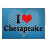 I Love Chesapeake Greeting Card