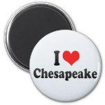 I Love Chesapeake Magnets