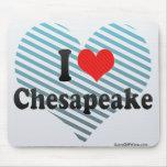 I Love Chesapeake Mouse Pad