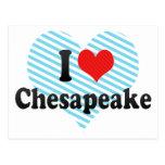I Love Chesapeake Postcard