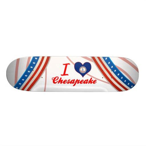 I Love Chesapeake, Virginia Skateboard Decks