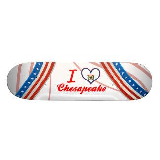 I Love Chesapeake West Virginia Custom Skate Board