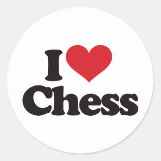 I Love Chess Classic Round Sticker