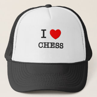 I LOVE CHESS TRUCKER HAT