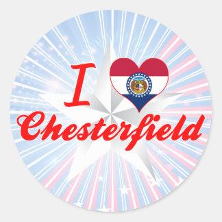 I Love Chesterfield, Missouri Round Sticker