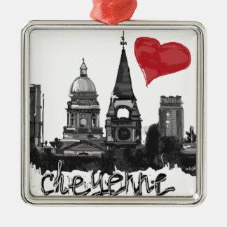 I love Cheyenne Christmas Ornament