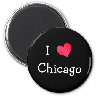 I Love Chicago 6 Cm Round Magnet