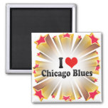 I Love Chicago Blues Magnets