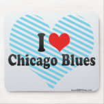I Love Chicago Blues Mouse Pads