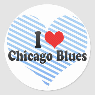 I Love Chicago Blues Stickers