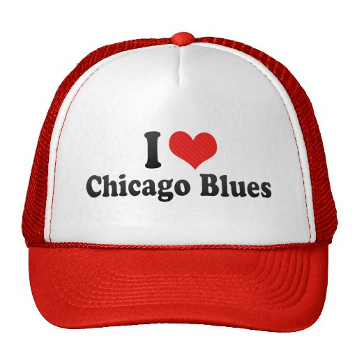 I Love Chicago Blues Trucker Hat