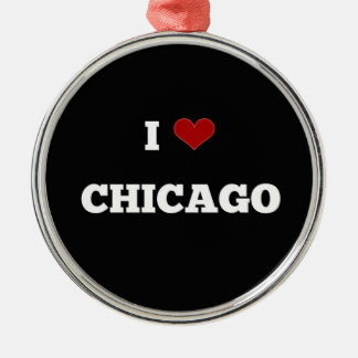 I Love Chicago Christmas Ornament