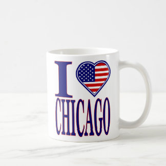 I Love Chicago Forth Of July Edition Mug