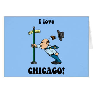 I love Chicago Greeting Card