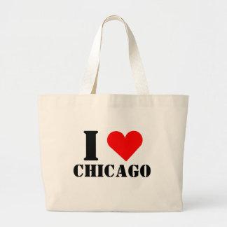 I Love Chicago Heart Jumbo Tote