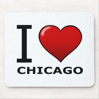 I LOVE CHICAGO, IL - ILLINOIS MOUSE MAT
