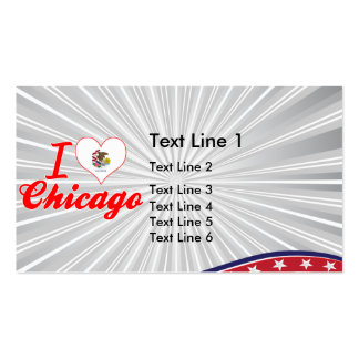 I Love Chicago, Illinois Business Card Template