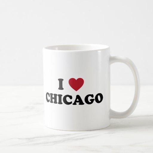 I Love Chicago Illinois Coffee Mugs