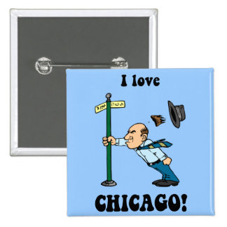 I love Chicago Pinback Buttons