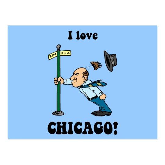 I love Chicago Postcard