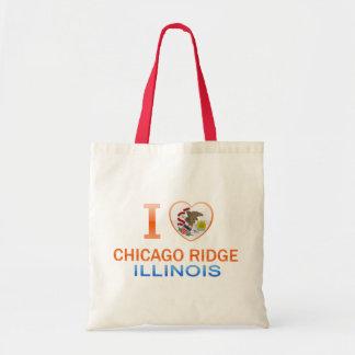 I Love Chicago Ridge IL Canvas Bag