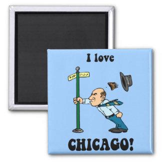 I love Chicago Square Magnet