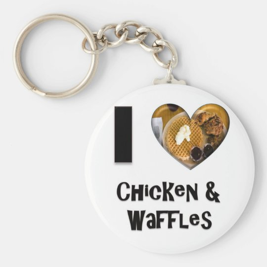 I Love Chicken and Waffles Basic Round Button