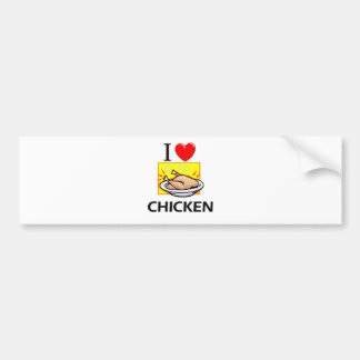 I Love Chicken Bumper Sticker
