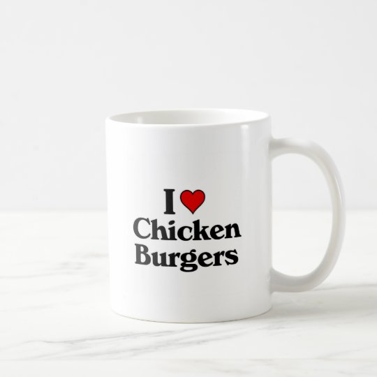 I love Chicken Burgers Coffee Mug