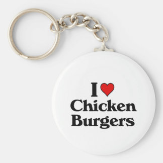 I love Chicken Burgers Key Chain
