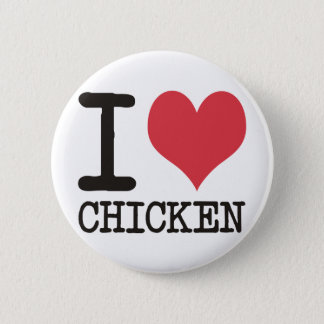 I Love Chicken - Champagne - Cocktail Products! 6 Cm Round Badge