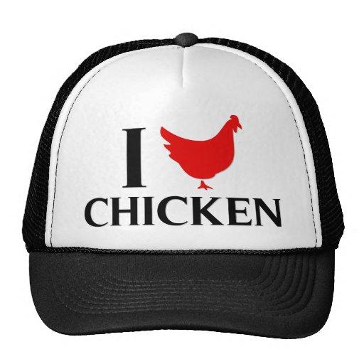 I Love Chicken Mesh Hat