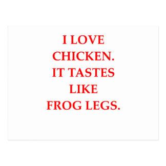 i love chicken post card