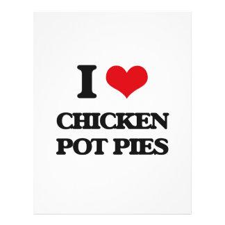 I love Chicken Pot Pies 21.5 Cm X 28 Cm Flyer